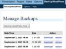 Thumbnail Backup Wordpress Robot