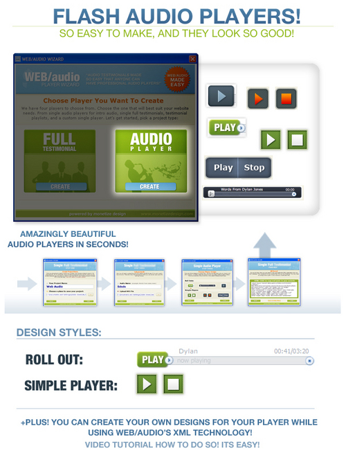 Product picture Web Audio Flash Player